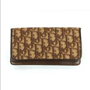 DIOR Vintage 70's wallet reddish/beiges